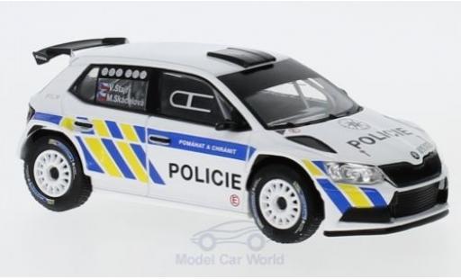 Skoda Fabia 1/43 Abrex III R5 Policie (CZ) 2015 miniature