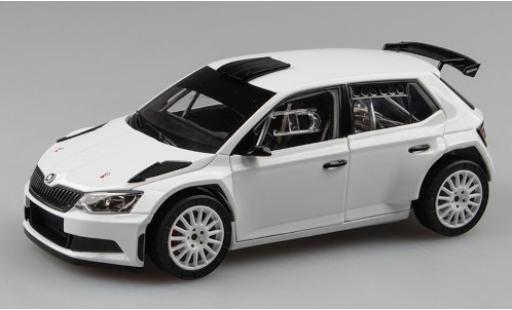 Skoda Fabia 1/18 Abrex III R5 blanche 2015 Plain Body Version miniature