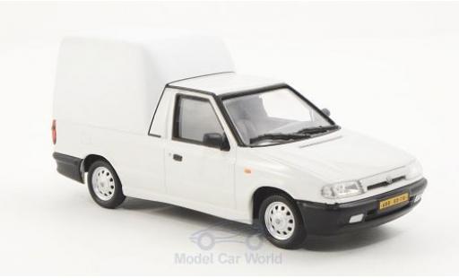 Skoda Felicia 1/43 Abrex Pick-Up white/matt-white 1996 diecast model cars