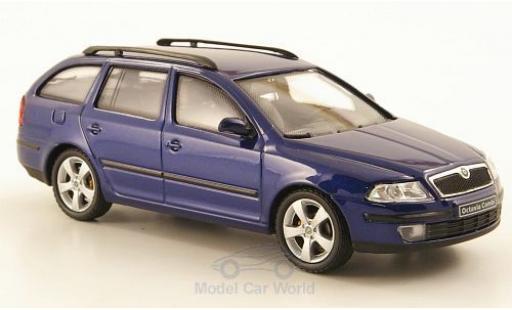 Skoda Octavia 1/43 Abrex Combi blue 2004 diecast model cars