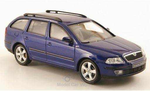 Skoda Octavia 1/43 Abrex Combi métallisé bleue 2004 miniature