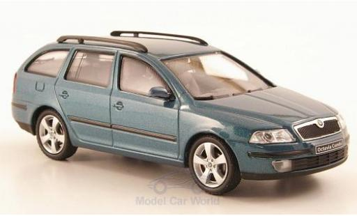 Skoda Octavia 1/43 Abrex Combi metallise green 2004 diecast model cars