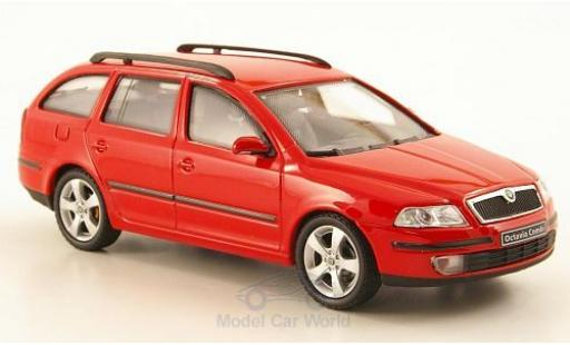 Skoda Octavia Combi 1/43 Abrex rouge 2004 miniature