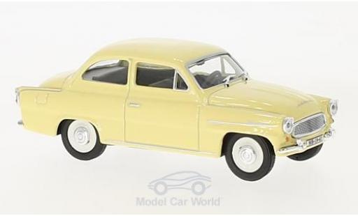Skoda Octavia 1/43 Abrex jaune 1963 miniature