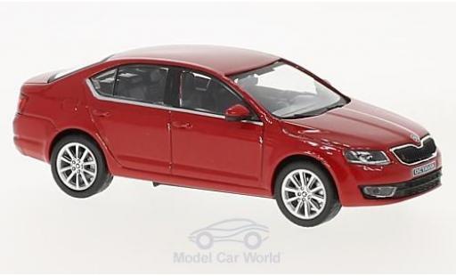 Skoda Octavia 1/43 Abrex III rouge 2012 miniature