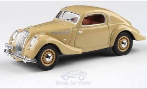 Skoda Popular Sport 1/43 Abrex Monte Carlo beige RHD 1937 miniature