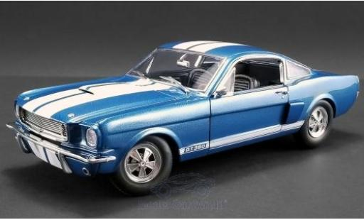 Ford Mustang 1/18 ACME Shelby GT350 Supercharged metallise bleue/blanche 1966 miniature