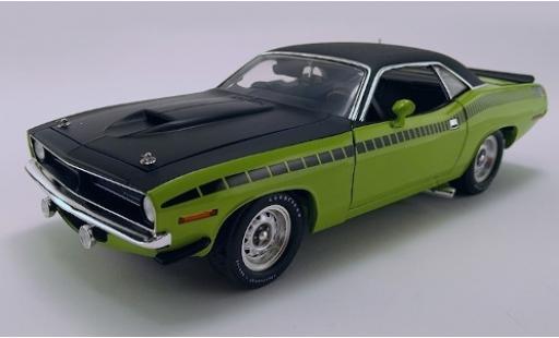 Plymouth Barracuda 1/18 ACME AAR verte/matt-noire 1970 mit Vinyldach miniature