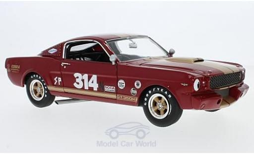 Shelby GT 1/18 ACME 350H rouge/gold 1966 Rent A Racer No.314 miniature