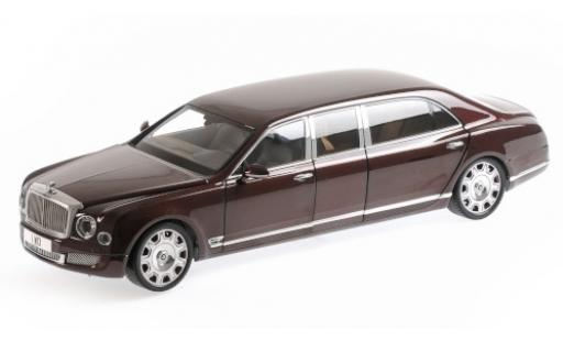 Bentley Mulsanne 1/18 Almost Real Grand Limousine by Mulliner rouge/rouge 2017 y compris les set de wagon porte-conteneurs miniature