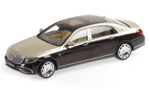 Mercedes Classe S 1/43 Almost Real Maybach S650 (V222) metallise rouge/metallise beige 2019 miniature