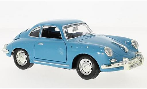 Porsche 356 1/24 American Mint/Motormax B blue diecast model cars