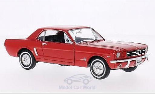 Ford Mustang 1/24 American Mint/Welly Coupe rouge 1964 miniature