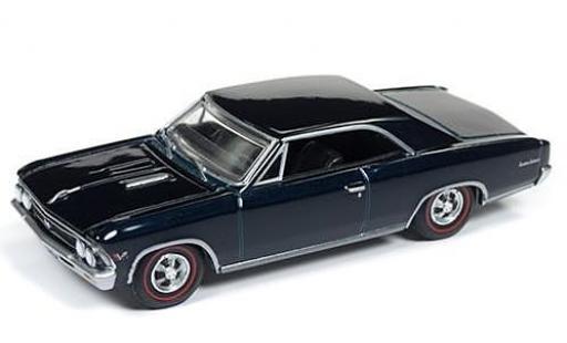 Chevrolet Chevelle 1/64 Auto World SS 396 azul 1966 sans Vitrine coche miniatura