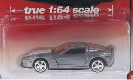 Chevrolet Corvette 1/64 Auto World Z06 (C6) Special Version grau/weiss 2012 ohne Vitrine modellautos