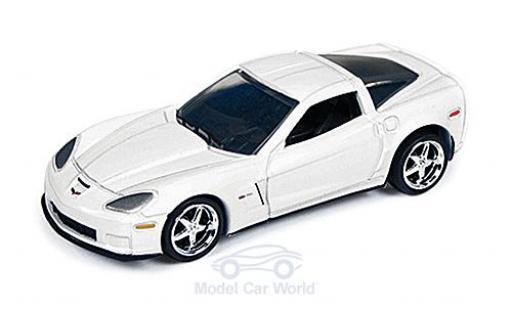 Chevrolet Corvette C6 1/64 Auto World Z06  blanche 2012 miniature