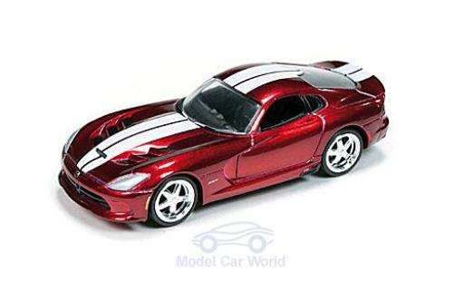 Dodge Viper 1/64 Auto World SRT metallic-dunkelred/white 2014 Special Version