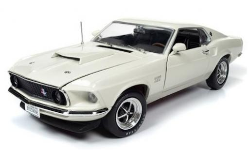 Ford Mustang 1/18 Auto World Boss 429 blanche 1969 miniature