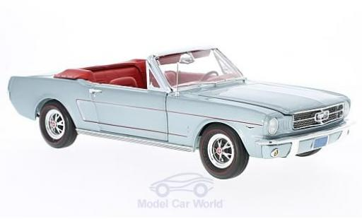 Ford Mustang 1/18 Auto World Convertible metallise grise 1965 ohne Vitrine miniature