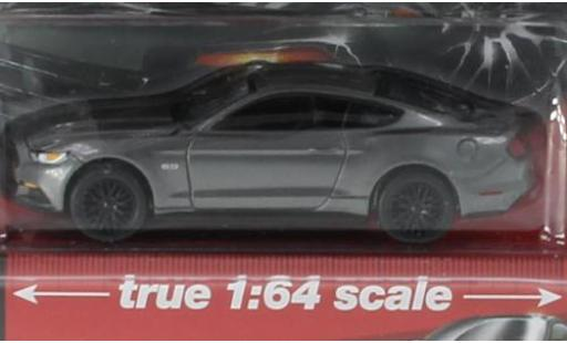 Ford Mustang 1/64 Auto World GT metallise grise 2017 miniature