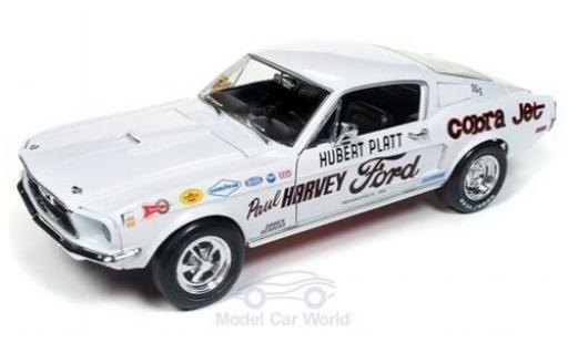 Ford Mustang 1/18 Auto World S/S Cobra Jet Paul Harvey 1968 H.Platt coche miniatura