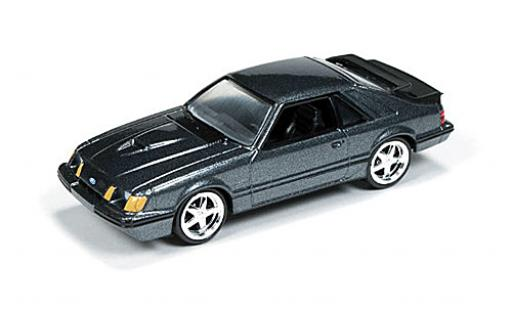 Ford Mustang 1/64 Auto World SVO metallise grise 1984 miniature
