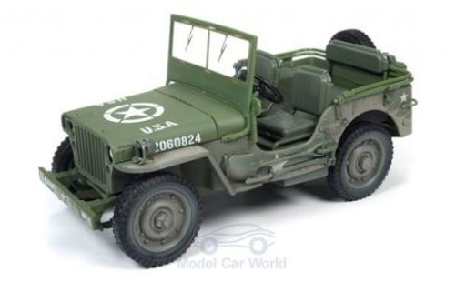 Jeep Willys 1/18 Auto World MB oliv 1941 mit Schmutzeffekt miniature