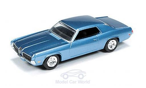 Mercury Cougar 1/18 Auto World metallise bleue 1970 ohne Vitrine miniature