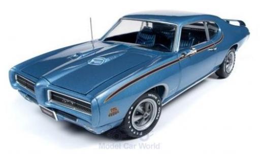 Pontiac GTO 1/18 Auto World Judge metallise bleue 1969 miniature