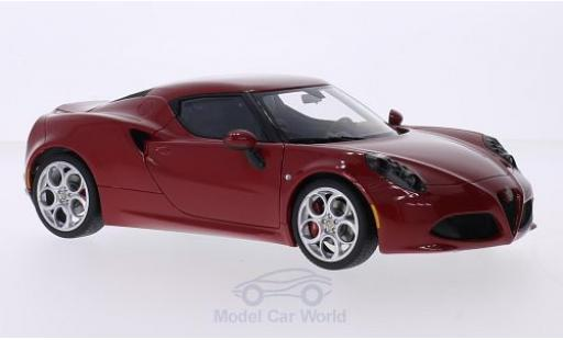 Alfa Romeo 4C 1/18 AUTOart red diecast model cars