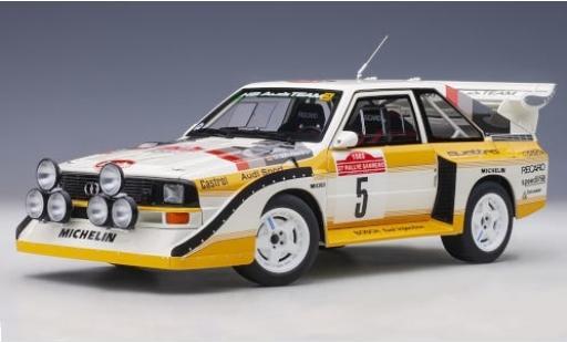 Audi Sport Quattro 1/18 AUTOart Sport quattro S1 No.5 HB Team HB Rallye WM Rally San Remo 1985 W.Röhrl/C.Geistdörfer diecast model cars
