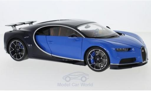Bugatti Chiron 1/18 AUTOart bleue/bleue 2017 miniature
