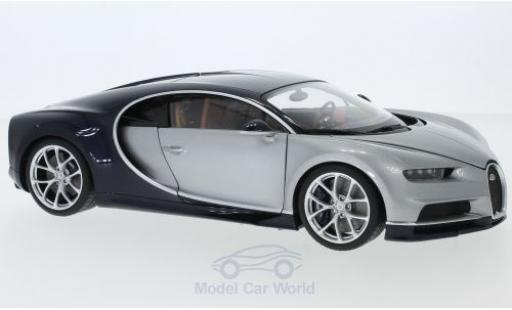 Bugatti Chiron 1/18 AUTOart grise/bleue 2017 miniature