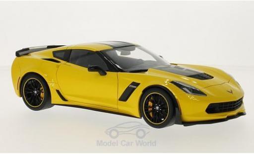 Chevrolet Corvette C7 1/18 AUTOart Z06 -R Edition yellow/black 2014 diecast model cars
