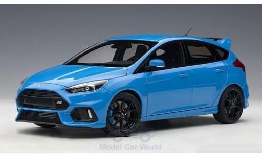 Ford Focus 1/18 AUTOart MKIII RS métallisé bleue 2016 miniature