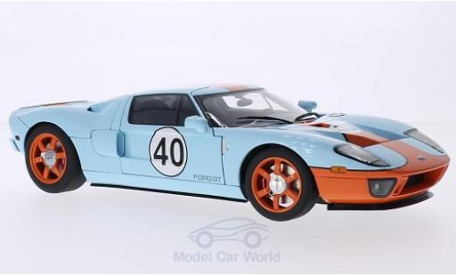 Ford GT 1/18 AUTOart bleue/orange 2004 miniature