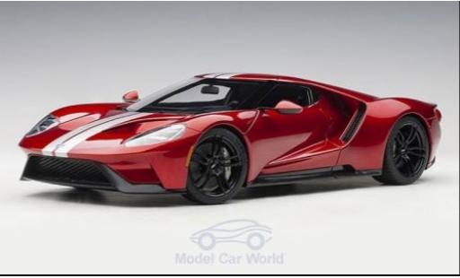Ford GT 1/18 AUTOart metallise red/grey 2017 diecast model cars