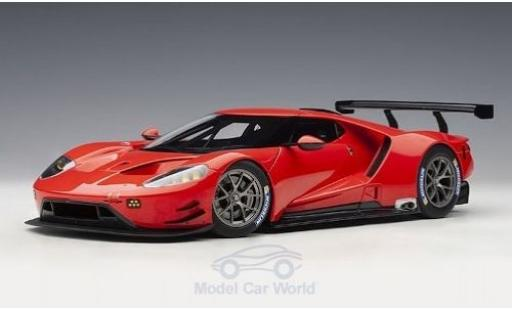 Ford GT 1/18 AUTOart rot 2016 Plain Body Version modellautos