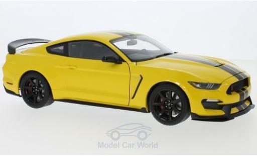 Ford Mustang 1/18 AUTOart Shelby GT-350R jaune/noire 2017 miniature