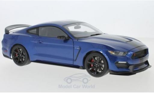 Ford Mustang 1/18 AUTOart Shelby GT-350R metallise bleue/noire 2017 miniature