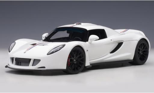Hennessey Venom 1/18 AUTOart GT Spider blanche/Dekor miniature