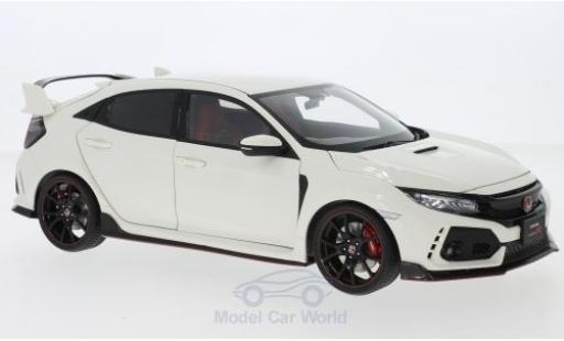 Honda Civic 1/18 AUTOart Type R (FK8) white RHD 2017 diecast model cars