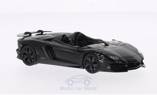 Lamborghini Aventador J 1/43 AUTOart black 2012 diecast model cars