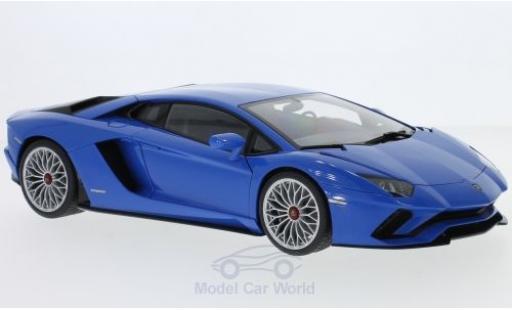 Lamborghini Aventador 1/18 AUTOart S metallic-blue 2017 diecast