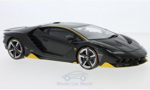 Lamborghini Centenario 1/18 AUTOart LP770-4 carbon/jaune 2017 miniature