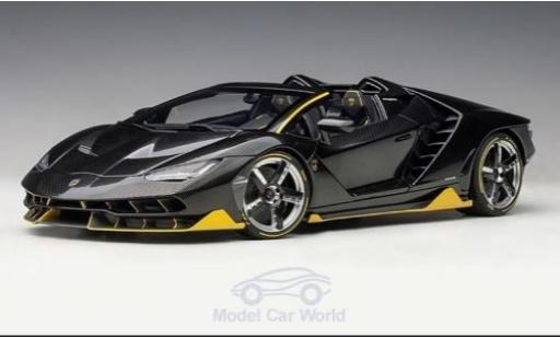 Lamborghini Centenario 1/18 AUTOart Roadster carbon/jaune 2016 miniature