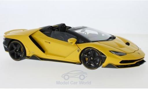 Lamborghini Centenario 1/18 AUTOart Roadster métallisé jaune 2016 miniature