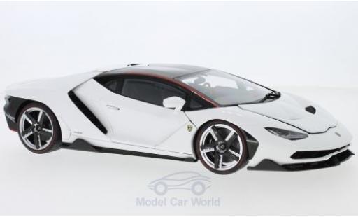 Lamborghini Centenario 1/18 AUTOart white diecast model cars
