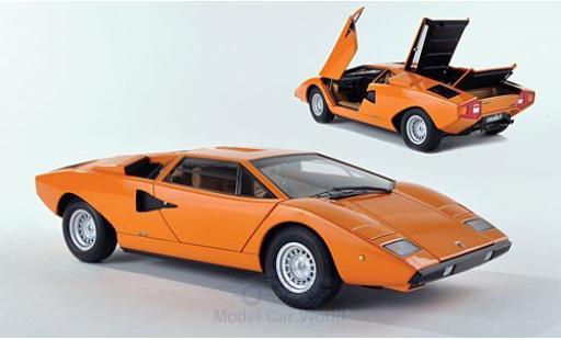 Lamborghini Countach 1/18 AUTOart LP400 orange 1974 miniature