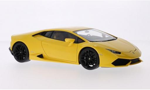 Lamborghini Huracan 1/43 AUTOart LP610-4 metallise yellow 2014 diecast model cars